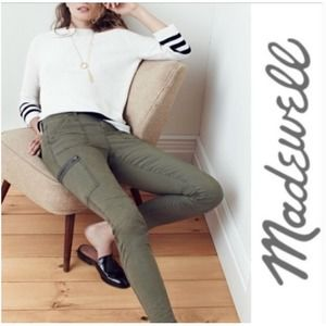 Madewell Moss Ankle Zip Skinny Cargo Pants Size 28